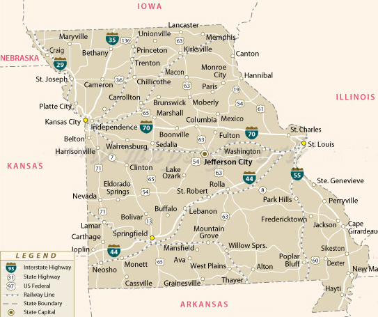 Missouri Polygraph LieDetector Polygraphs In Kansas City St - Map of missouri cities